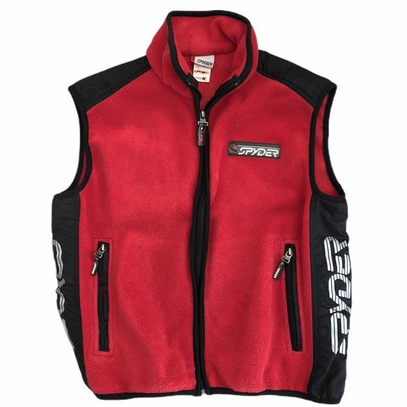 Spyder Other - Spyder Sz 16 Red Fleece Full Zip Sleeveless Vest